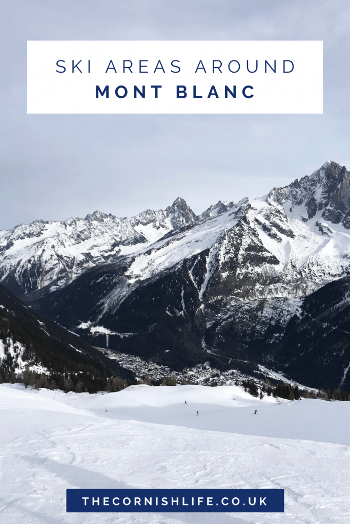 Ski Areas Around Mont Blanc in the French Alps