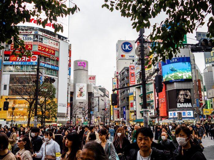 Shibuya Scramble in Tokyo