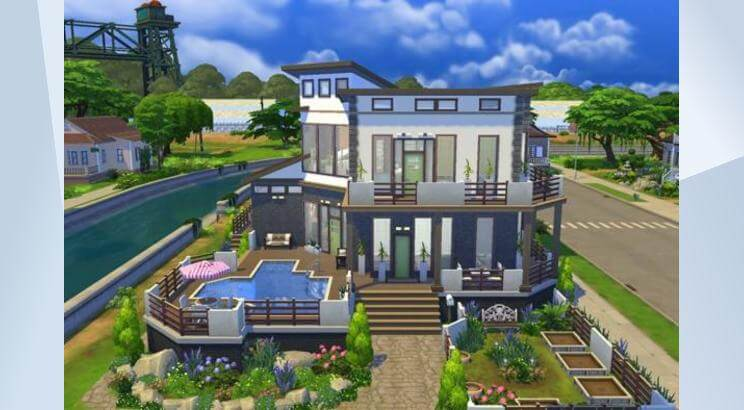 House design on the Sims