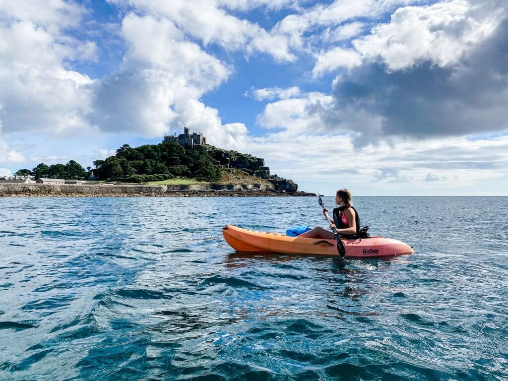 Kayaking around St. Michaels Mount