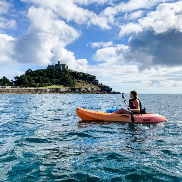 Kayaking around St. Michaels Mount