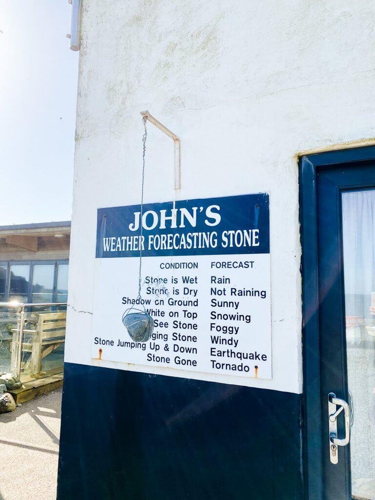 'John's Weather Forecasting Stone', Porthallow
