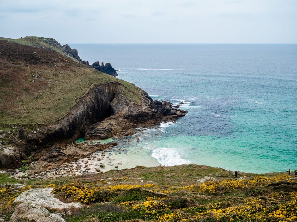 Nanjizal beach and song of the sea in Cornwall
