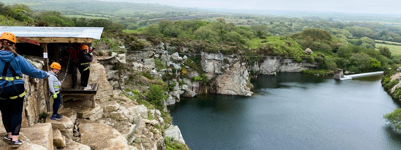 Climbing & Zip-lining in Cornwall with Via Ferrata
