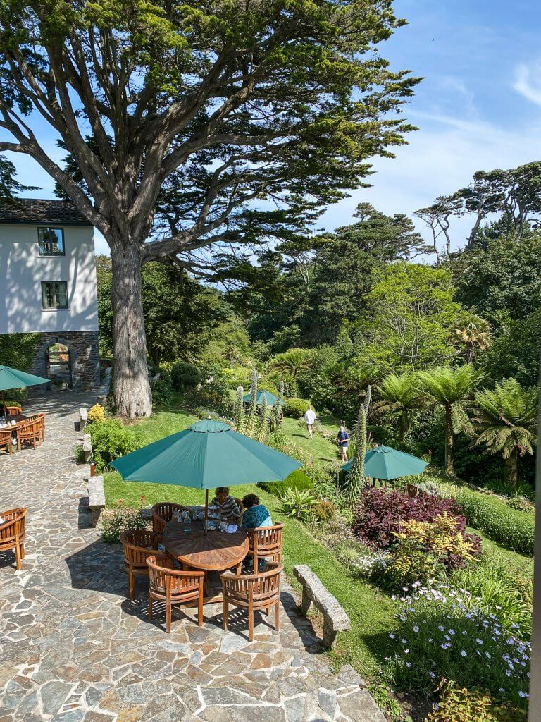 Afternoon tea at Hotel Meudon in Cornwall