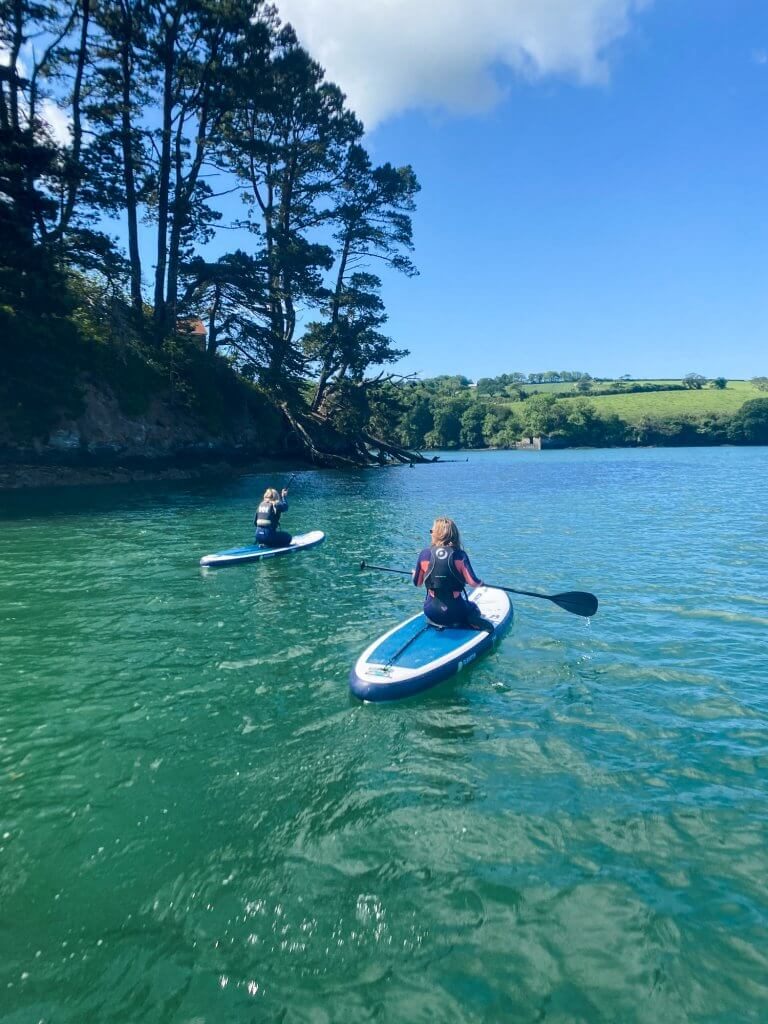 SUP on Helford river in Cornwall