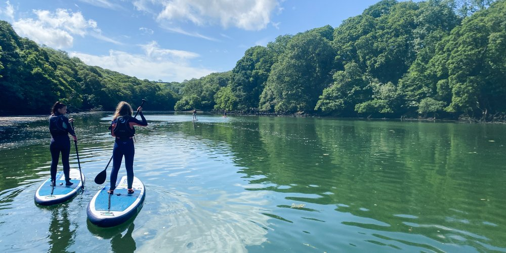 Stand up paddleboarding in Cornwall