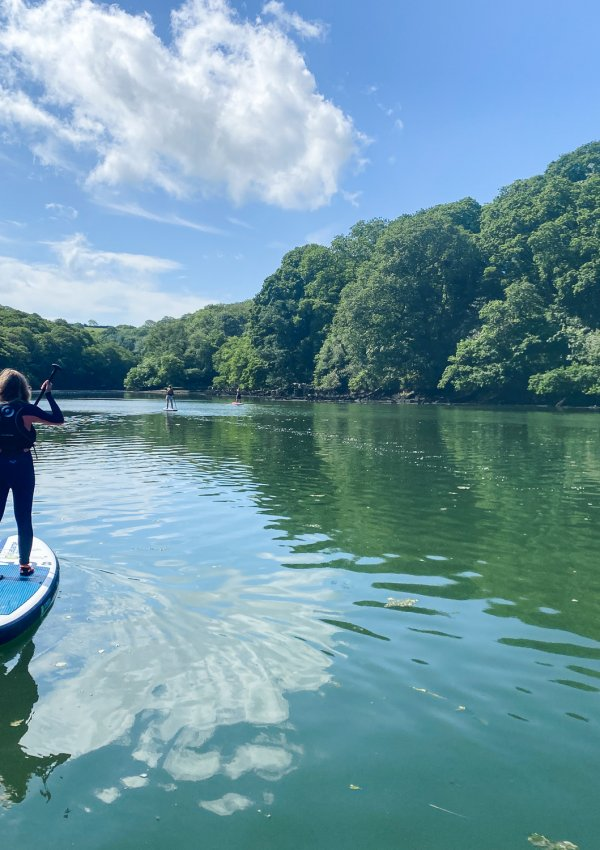 Stand Up Paddleboarding on Helford River in Cornwall (with Koru SUP)