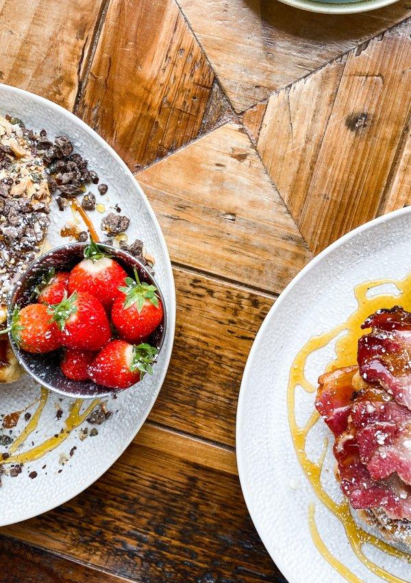 Incredible Brunch Waffles at Slice Of Cornwall